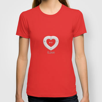 iLove red - T-shirt by THE-LEMON-WATCH | Society6