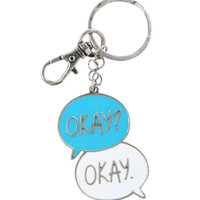 The Fault In Our Stars Okay Key Chain