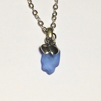 Blue Sea Glass Necklace Jewelry Authentic Blue Seaglass Friendship Gift Birthday Gift