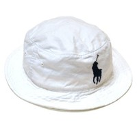 Polo Ralph Lauren Mens Bucket Hat Big Pony Logo Cap Solid Beach Fishing