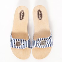 Striped slide sandals