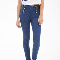 High-Waisted Matelot Jeans