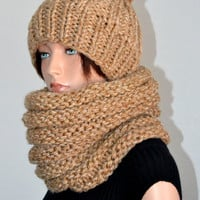 The Cold Blocker Scarf in Oatmeal
