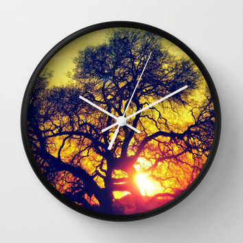 Through the trees Wall Clock by DuckyB (Brandi)