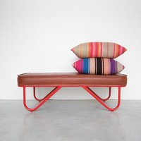 Garza Marfa Bench, Upholstered Leather - New Products - Heath Ceramics