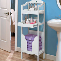 Bath Storage with Pullout Shelf