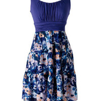 Printed Tiered Twofer Dress - dELiAs