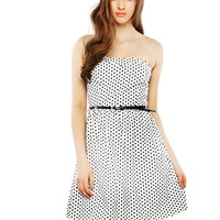 Papaya Clothing Online :: QUTY DOTTED BELTED DRESS