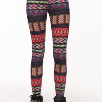 Color Chevron Leggings - LoveCulture