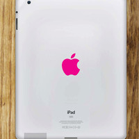 2X PINK APPLE LOGO iPAD Vinyl Decal Skin by decalbandit on Etsy