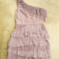 Tiered Lavender Chiffon Party Dress [2385] - &amp;#36;32.00 : Vintage Inspired Clothing &amp; Affordable Summer Dresses, deloom | Modern. Vintage. Crafted.