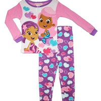 Bubble Guppies Toddler Girls 12M-5T Cotton Pajama Set