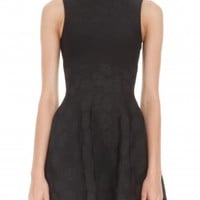 Boutique 1 - ISSA LONDON - Black Jacquard Bay Dress | Boutique1.com