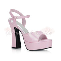 2012 Summer Patnet Leather Peep Toe High Heels Sandals [TQL120321113] - £46.59 :