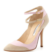 Sisi Suede Double-Ankle-Strap Pump