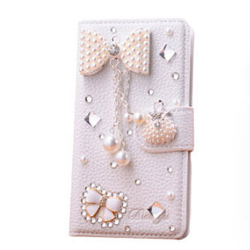 Cheap fashion iphone 5c case bowknot iphone 5s flip case studded iphone 4s wallet case samsung s5 case galaxy note 3 flip case s4 mini case