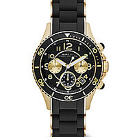 Marc by Marc Jacobs - Goldtone Stainless Steel & Silicone Chronograph Watch - Saks Fifth Avenue Mobile