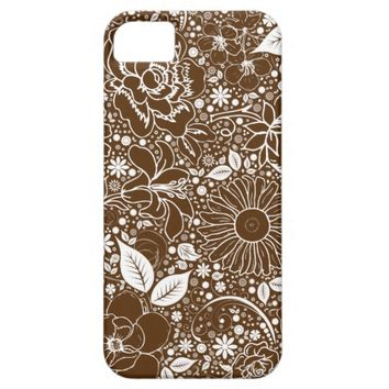 Botanical Beauties Brown, iPhone 5/5s Case