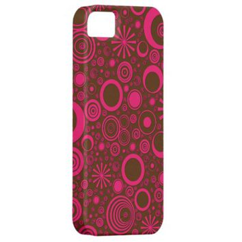 Rounds, Pink-Brown iPhone 5/5s Case