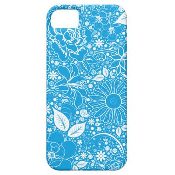 Botanical Beauties Lt. Blue, iPhone 5/5s Case