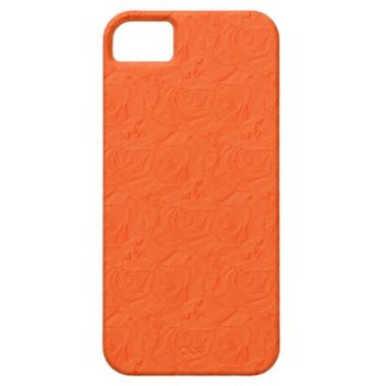Embossed Roses Orange iPhone 5/5s Barely There