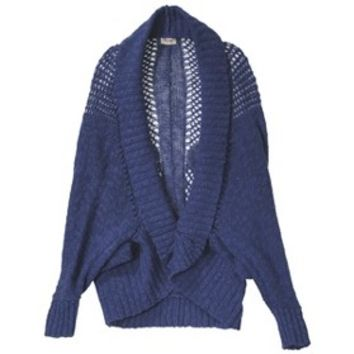 Junior's Open Weave Cocoon Sweater