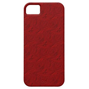Embossed Roses iPhone 5/5s Barely There Case