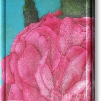 Blaze Rose Oil On Canvas Acrylic Print