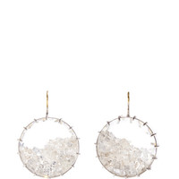One of a Kind White Shake Diamond Earrings by Renee Lewis - Moda Operandi