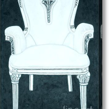 The Pink Chair Gone Cyanide Acrylic Print