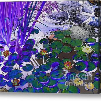 Water Lilies Blue Acrylic Print