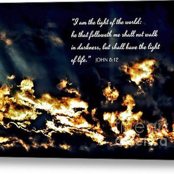 I Am The Light Of The World John Chapter Eight Verse Twelve Acrylic Print
