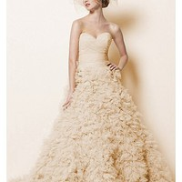 Buy discount Elegant Exquisite Tulle A-line Sweetheart Neckline Wedding Dress at dressilyme.com