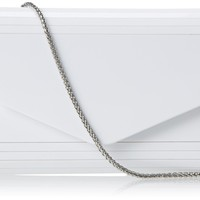 Nina Brizia-B Clutch,White,One Size