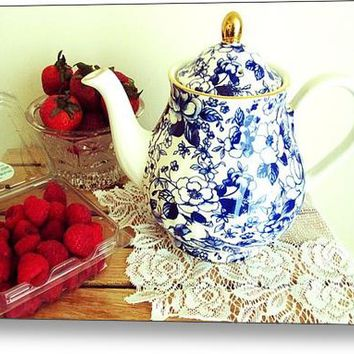 Red White And Blue Still Life Acrylic Print