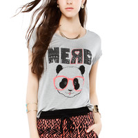 Papaya Clothing Online :: NERD PANDA GRAPHIC TOP