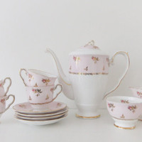 Vintage China Coffee Set Royal Stafford by peonyandthistle