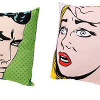 Retro To Go: Pop Art cushions from Dwell