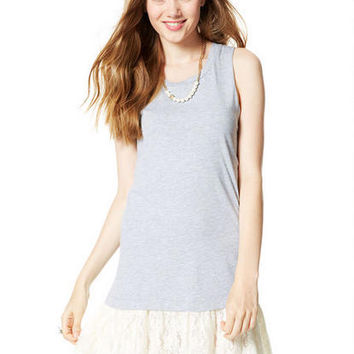 Solid Muscle Tee Dress - Heather Grey