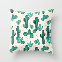 Cactus by Andrea Lauren Throw Pillow by Andrea Lauren Design