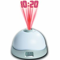 Projection Alarm Clock with 7 Color Mood Changing Light