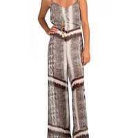 V Neck Snake Jumpsuit