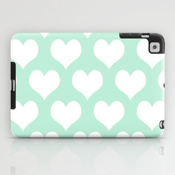 Hearts of Love Mint Green iPad Case by BeautifulHomes | Society6