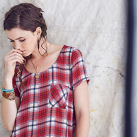 Mason & Belle - Plaid Front Tee