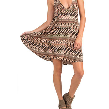 T-BACK DESERT TRAPEZE DRESS