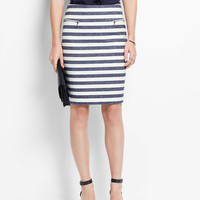 Bijou Stripe Pencil Skirt