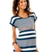 Motherhood Maternity: Short Sleeve Belted Maternity Tunic