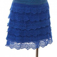CROCHET DESIGN MINI SKIRT-Skirts-Long Skirts,Mini Skirts,mid-lenth skirts,leather skirt,maxi skirt,pleated skirt,floral skirt,colorful skirts,a line skirt,silk skirt,plus size skirts,sexy skirts