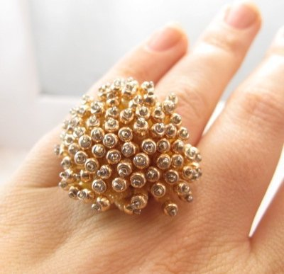 Supermarket - Anemone Ring in Sunshine from Beloved Beadwork