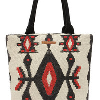 Billabong Absolute Wander Cream Southwest Print Tote
